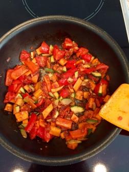 Broiling veggies