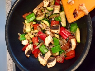 Add veggies and season to taste